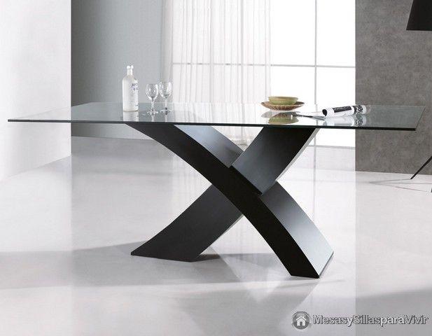 Mesa comedor en cristal mod clío la pobla de vallbona