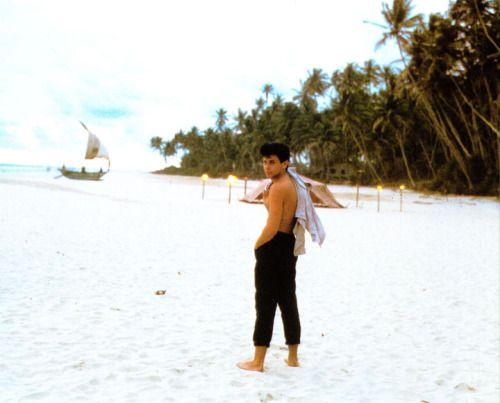 """Roger Taylor on te shooting of music video """"Save A Prayer"""". Sri-Lanka, 1982."""