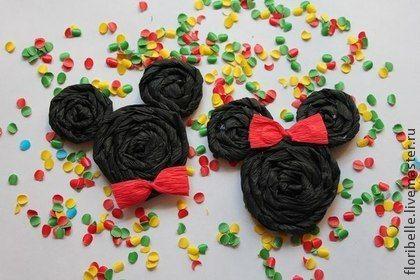 "Значки ""Микки"" и ""Минни"" - чёрный,Микки Маус,минни маус,день рождения ребенка"