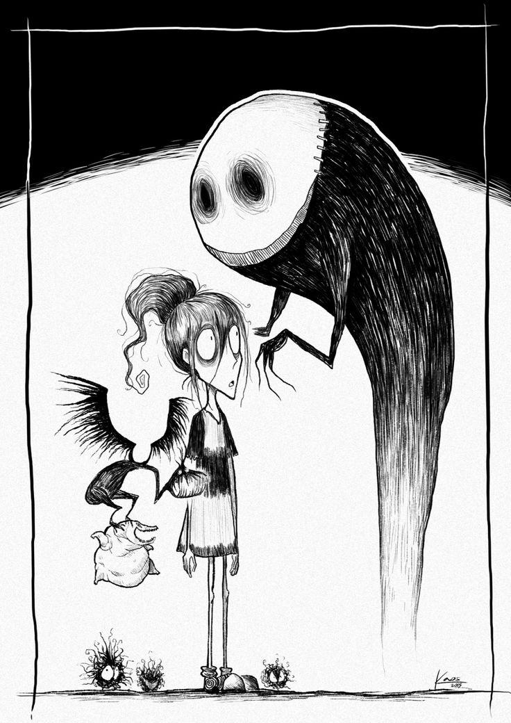 'El viaje de Chihiro', al estilo Tim Burton: http://generacionghibli.blogspot.com.es/2015/04/el-viaje-de-chihiro-al-estilo-tim-burton.html
