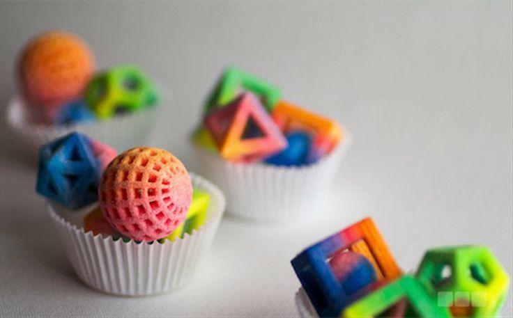 Personaliza tus terrones de azúcar a tu gusto con Chefjet, una impresora 3D a todo color que imprime productos comestibles de azúcar a medida