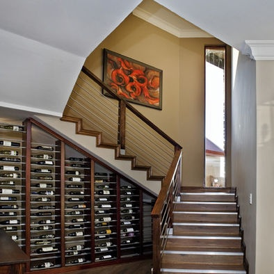 wine storage under stairs