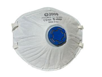 Mascarilla de seguridad olympo 2000 con valvula Mascarillas preformadas con bandas elasticas Olympo 2000 – ffp2 nr d según norma  en 149:2001+a1:2009  #epi #mascarillas #seguridad