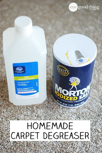 A super simple way to remove messy grease stains from carpet!