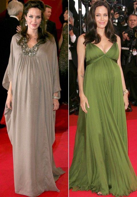 Angelina Jolie - Stylist Celebrity Baby Bumps