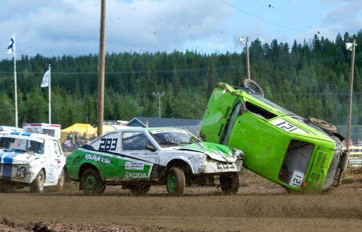 Poikkinaintiajot jokkiskisat Kittisvaaran legendaarisella radalla heinäkuussa Pellossa Länsi-Lapissa
