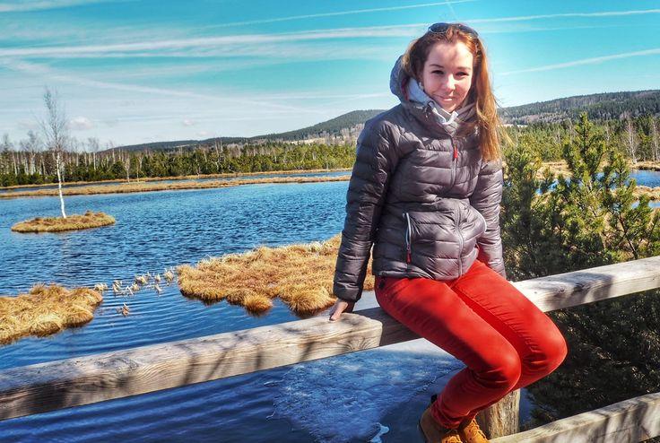 Chalupská slať s největším rašelinným jezírkem v ČR