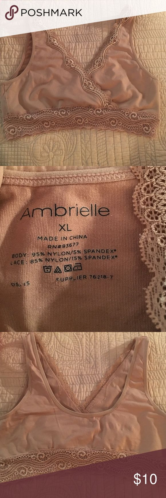 Ambrielle nude sports bra / fashion bra xl like n Ambrielle nude beige bra size xl like new very pretty . Ambrielle Intimates & Sleepwear Bras