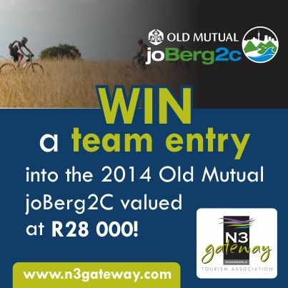 The N3 Gateway in conjunction with the Gauteng Getaway Show is running a #competition. One of the mega prizes up for grabs is a team entry to the #joBerg2c . Complete an online travel survey to enter! Take a look at our website for more info:  http://n3gateway.com/discover-the-n3-gateway-competition.htm