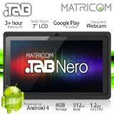 "7"" Matricom .TAB Nero Tablet PC - Android 4 Capacitive Multi-Touch 4GB (Black)"