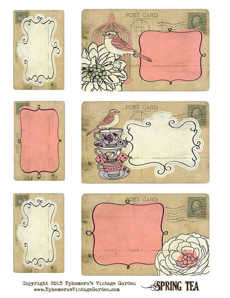 Добрым, мини-открытки шаблоны для распечатки