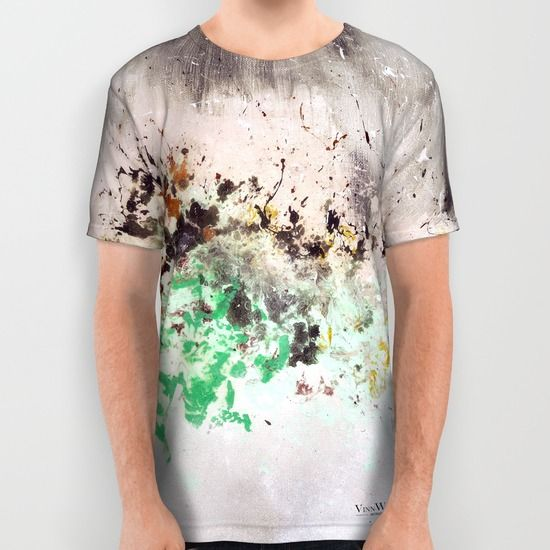 Green and grey cool abstract unisex T-shirts for men and women by Vinn Wong | Full collection vinnwong.com | International Shipping | Visit the shop or Pin it For Later!