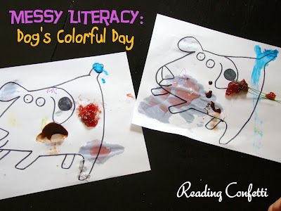 Messy Literacy: Dog's Colorful Day: Idea, Dogs Colors, Kids Books, Reading Confetti, Favorite Books, Children Books, Books Activities, Fun Colors, Dogs S Colorful
