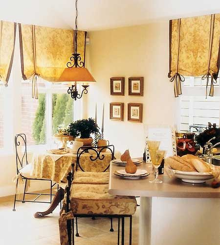 French Country Kitchen Curtains For Classic Nuance