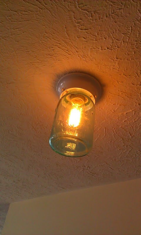 mason jar flush mount light