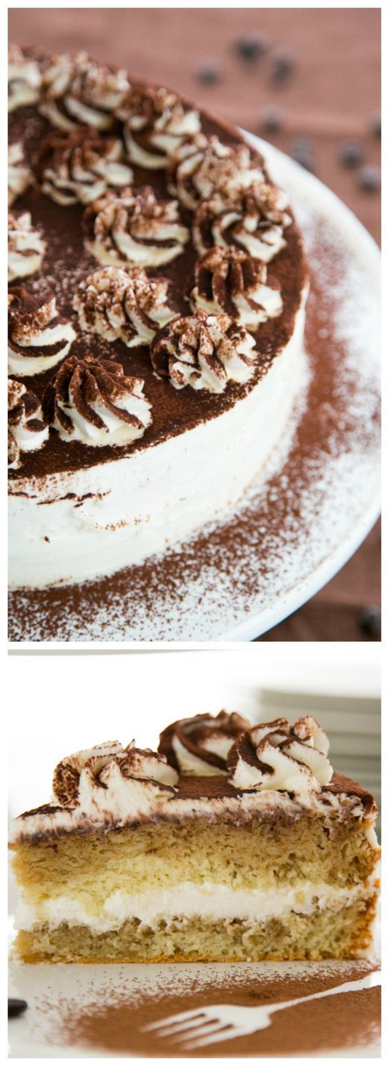 Learn how to make this stunning #tiramisu #cake with this Video tutorial from Natashaskitchen.com