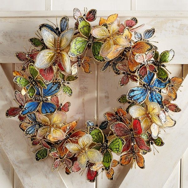 Beautiful One Wreaths Pier 1 Imports Favorite Things Butterfly Philippines The Year Shells Glitter
