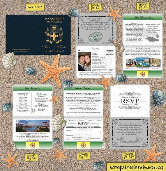 Passaporto di invito per un matrimonio di di EmpireInvites su Etsy