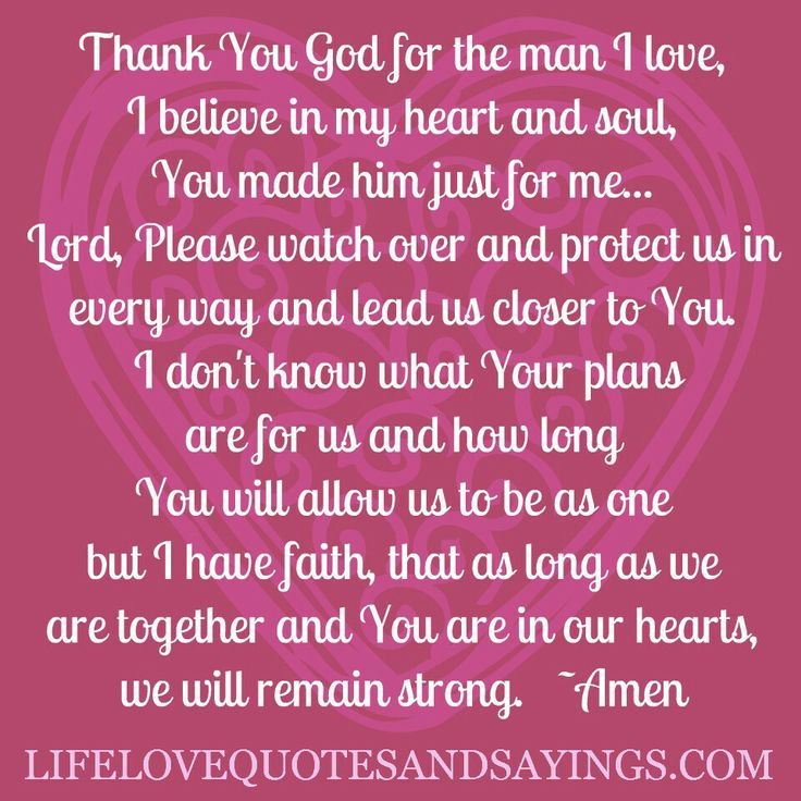 Thank you God for the woman I love!! For I cherish her