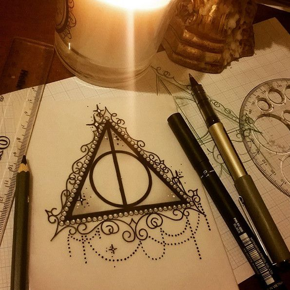 Detailed Deathly Hallows - These 'Harry Potter' Tattoos Are All Kinds of Magical - Photos