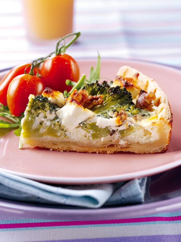 Broccoli Walnut Tart Recipe with FAGE Total® - FAGE Total® custard adds a lightness to this tart.