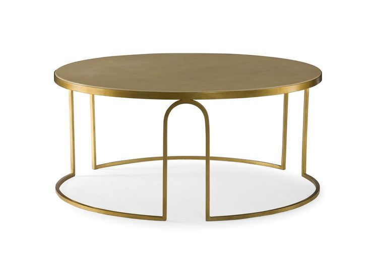Art Deco Coffee Table a transitional round coffee table. #andrewmartin iwbrely