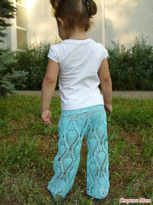 Little girl pants ♥LCK-MRS♥ with diagrams, simple one, some thinking to do to build the top.