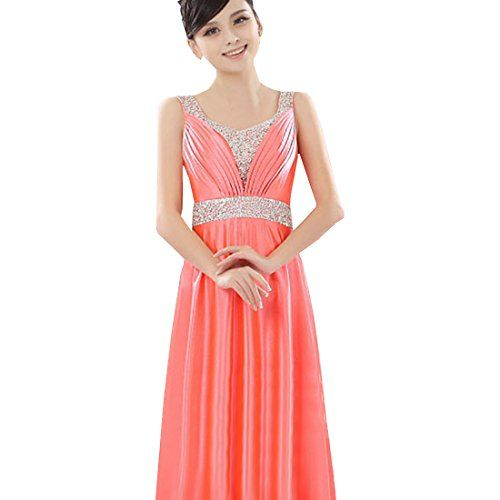Partiss Damen Frauen langen Elegante Strass Brautjungfer Hochzeit Abendessen Abschluss Bankett Bewirtet neue Sommer Cocktail Kleid, Tag 2XL/EU L,Watermelon Partiss http://www.amazon.de/dp/B01DETS884/ref=cm_sw_r_pi_dp_OSn9wb1AHMYM4