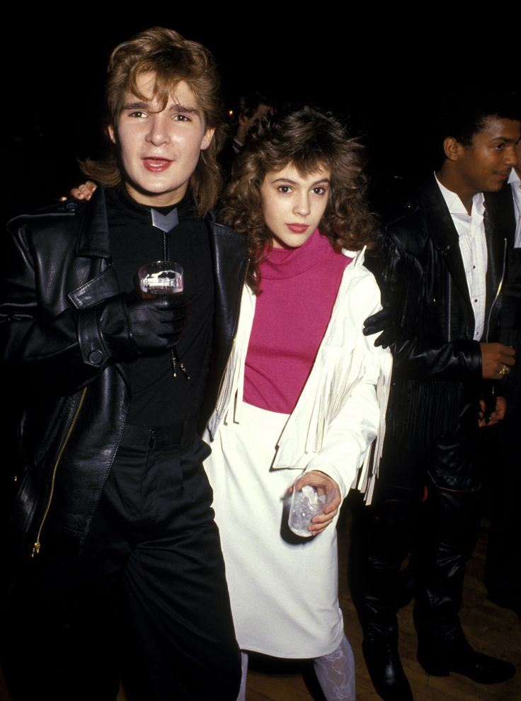 Alyssa Milano and Corey Feldman 1987