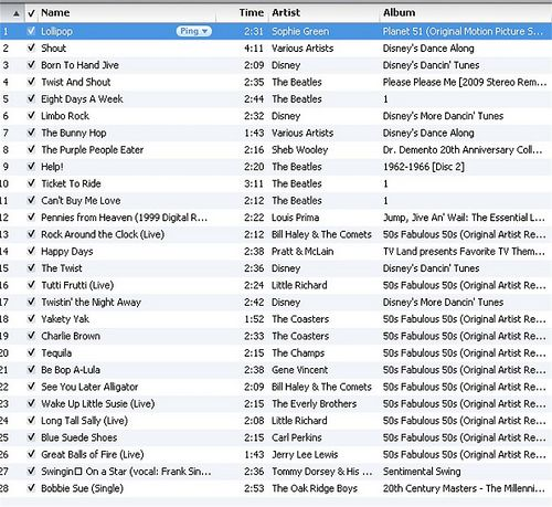 Playlist for 50's party... I just love this @Megan Jones can we use this??