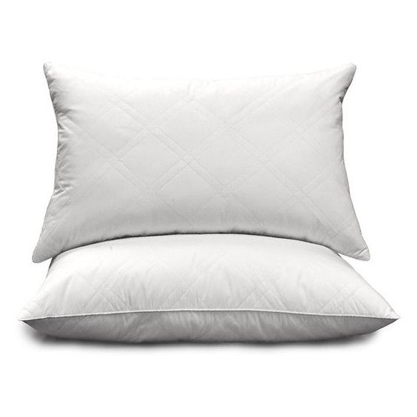 quilted white feather and goose down pillows set of 2 cop