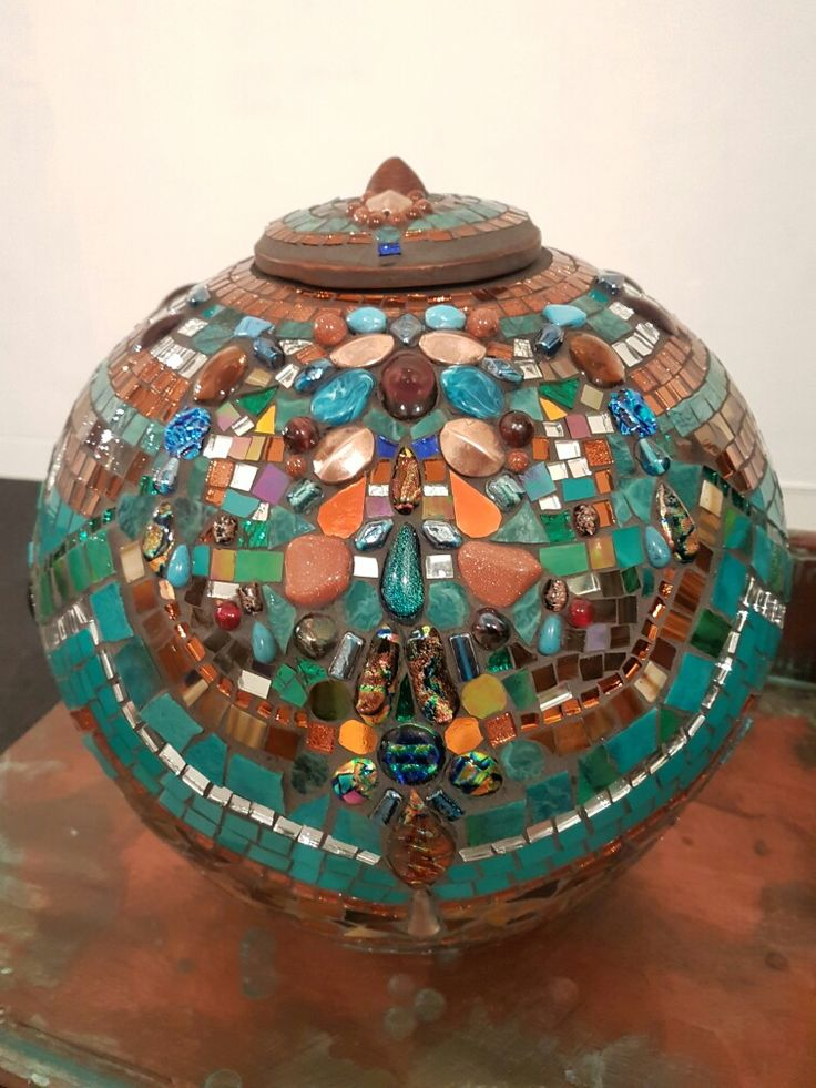 Turquoise Demijohns collection featuring semi precious stones