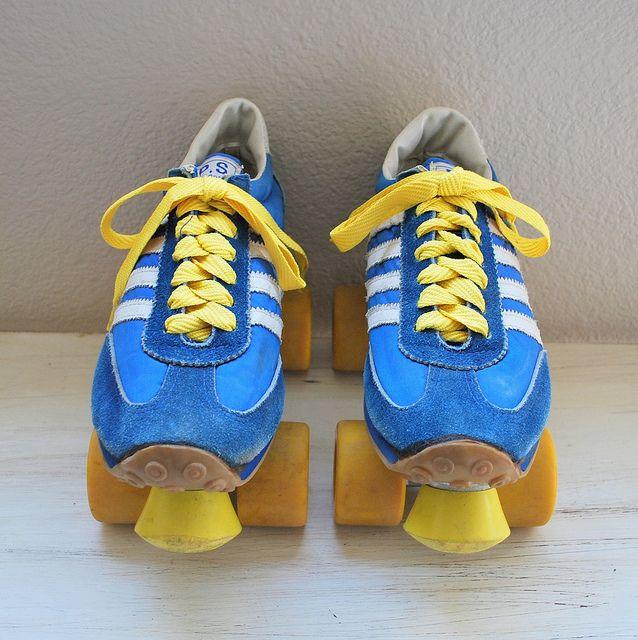 Vintage 1970s/1980s Sneaker Roller Skates by Alpenglow Vintage, via Flickr.