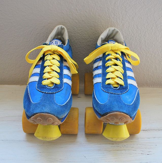 Had these bad boys. Vintage 1970s/1980s Sneaker Roller Skates by Alpenglow Vintage, via Flickr.