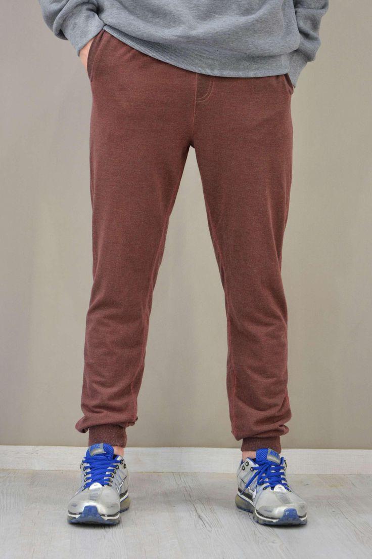 Ανδρικό παντελόνι φόρμας με λάστιχο κάτω FORM-1034-brd Φόρμες Αθλητικές