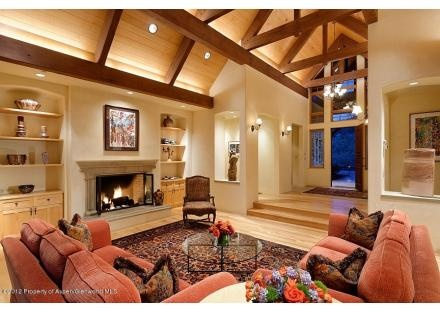 A Very Pretty Room But Would Be Made More Feng Shui Balanced With The Beams Painted