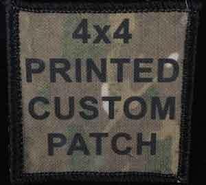 Printed Custom Patch 4x4