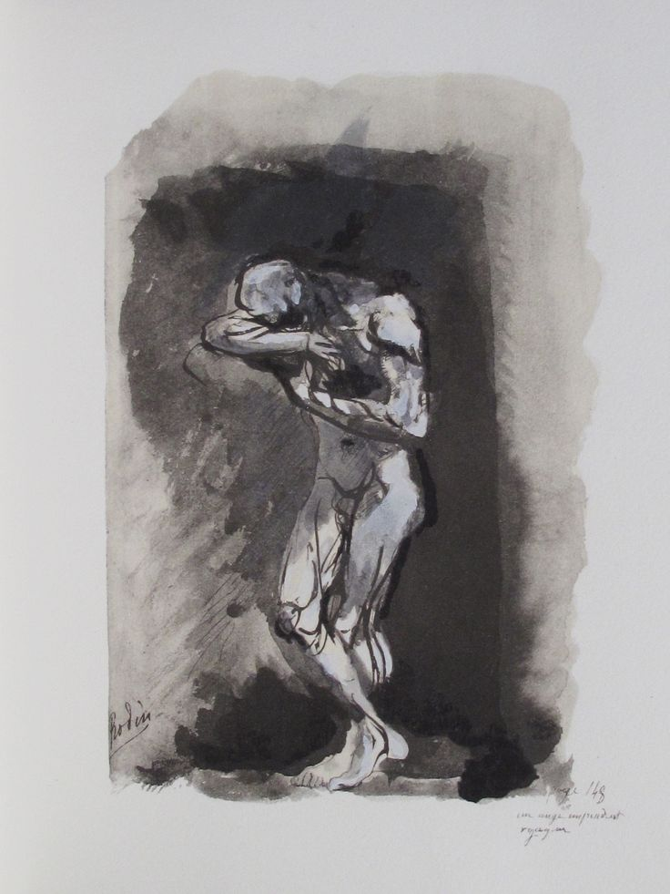 Les Fleurs du Mal,AUGUSTE RODIN.From the edition of Charles Baudelaire 'Les Fleurs du Mal' published by The Limited Editions Club, 1947.