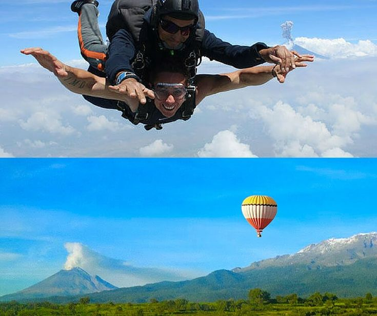 salto en paracaidas en puebla globos aerostaticos