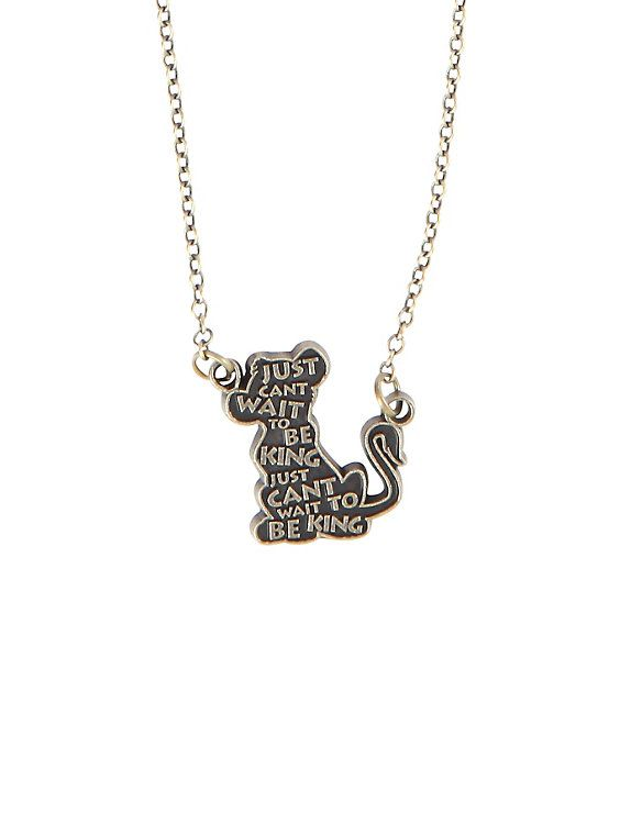 Disney The Lion King Simba Quote Necklace,