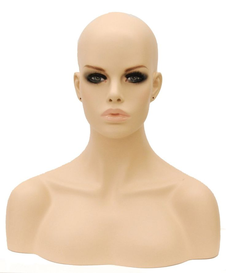Mariah: Female Mannequin Head with Pierced Ears – Mannequin Madness