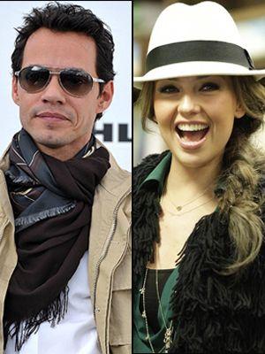 Thalía y Marc Anthony graban con Tony Bennett