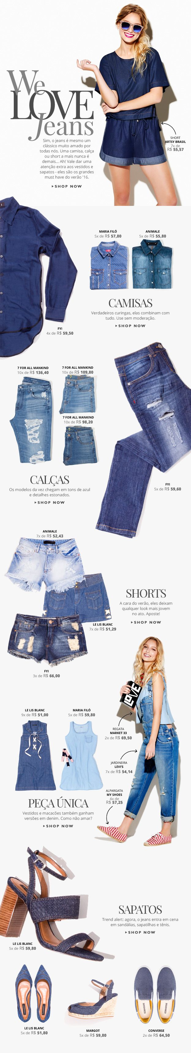 We Love Jeans - Email Newsletter on Behance | Fashion E-commerce | OQVestir