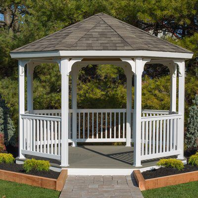 Octagon 12 Ft W X D Vinyl Permanent Gazebo