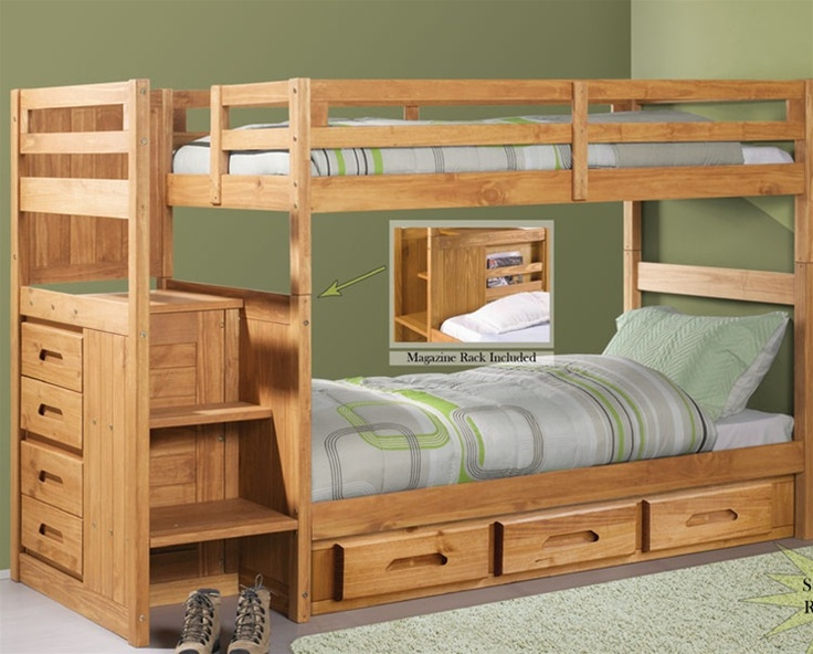 Perfect bunk bed for Jack and Kevin -- stairs are a must.