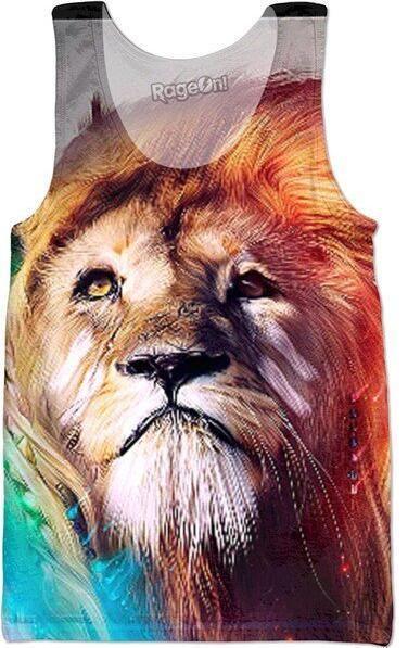 Trippy Lion T-shirt Women Men Summer Style Tops 3D Golden lion king Tank Tops Short Sleeve Crop Tees