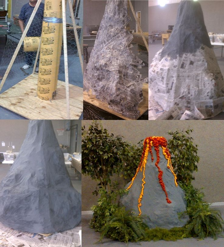 How we created our Paritutin Volcano for Amazing Wonders of Aviation VBS. It even had a fog machine for the smoking volcano affect