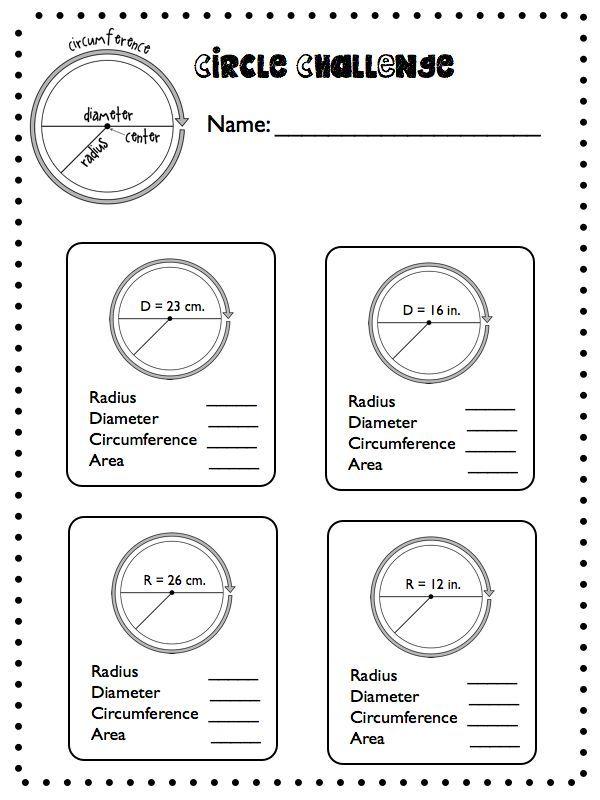 Circles Circles Everywhere Radius Diameter