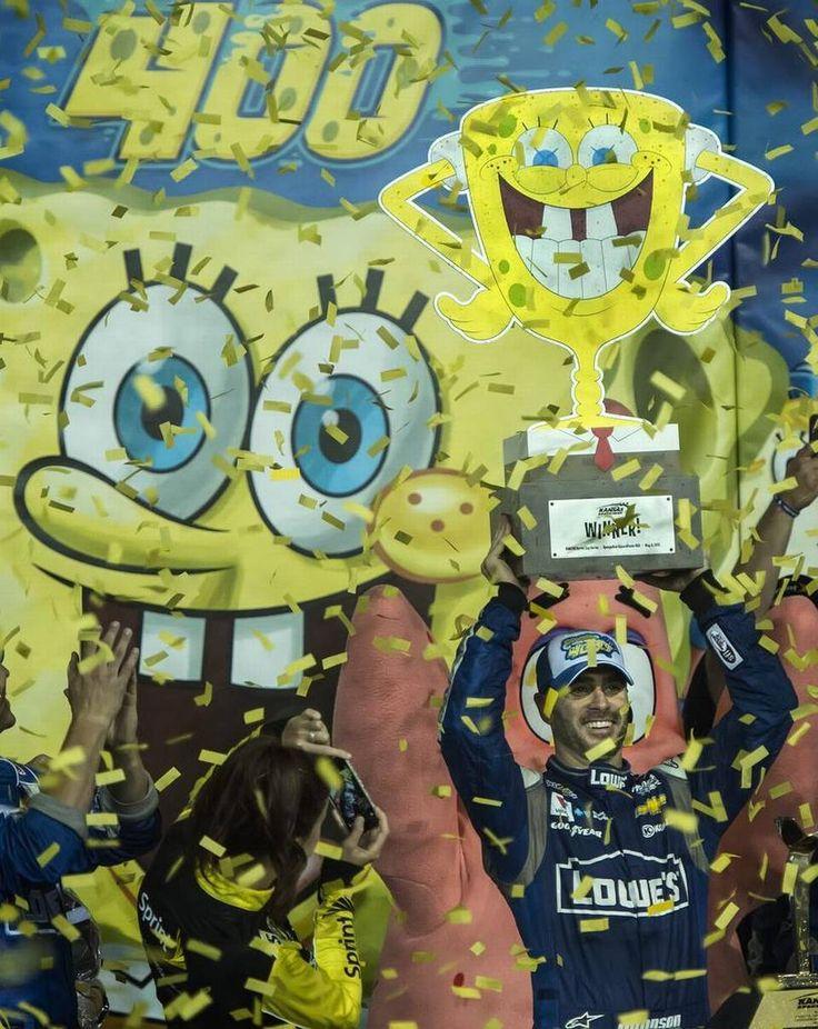 NASCAR SpongeBob trophy
