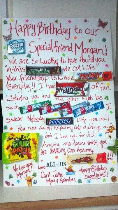 Sweet Treat Happy Birthday Card made for Morgan
